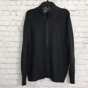 OSCAR DE LA RENTA Full Zip Cardigan Sweater sz L